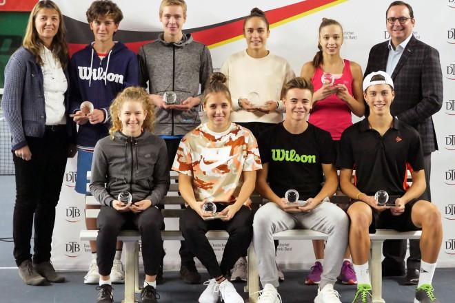 Siegerehrung 44.Deutsche Tennis-Meisterschaften der Jugend Essen mit Oberbürgermeister Thomas Kufen