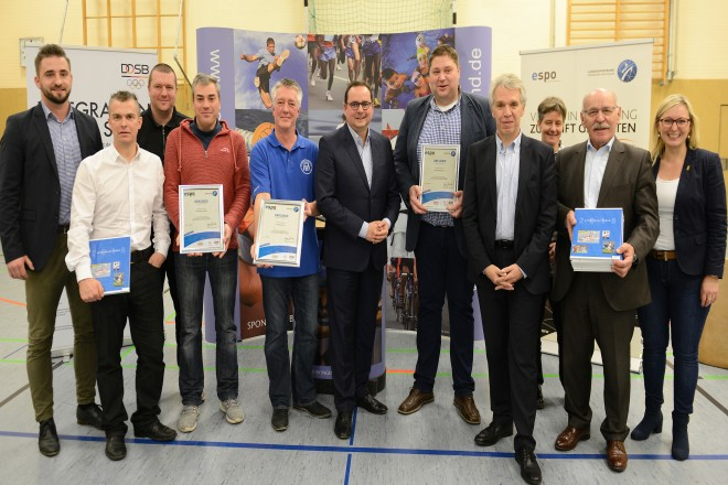 Auszeichnung von Stützpunkten Integration durch Sport