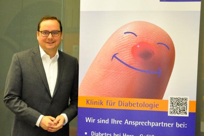 Oberbürgermeister Thomas Kufen besucht als Schirmherr das Diabetes Forum