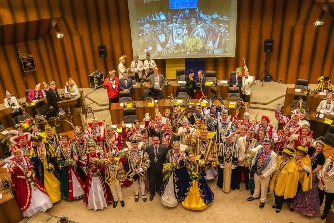 Närrische Ratsitzung im Essener Rathaus