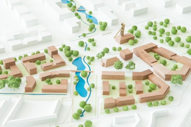 Foto: Ausstellung der Gewinnerkonzepte zur Bebauung des neuentstehenden Quartiers.