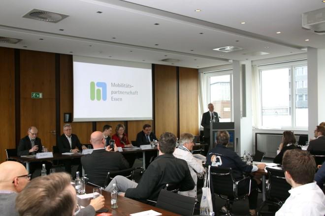 Am Donnerstag (28.3.) fand die Auftaktveranstaltung der Mobilitätspartnerschaft der Stadt Essen und der Essener Wirtschaft statt.