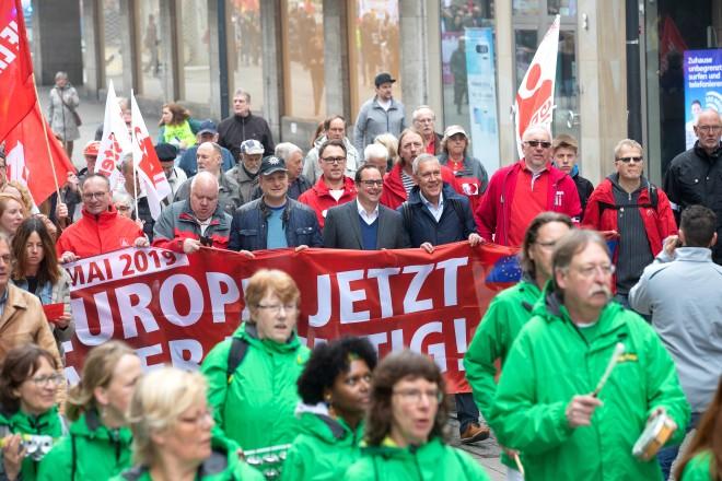 Mai- Demo 2019 mit Oberbürgermeister Thomas Kufen