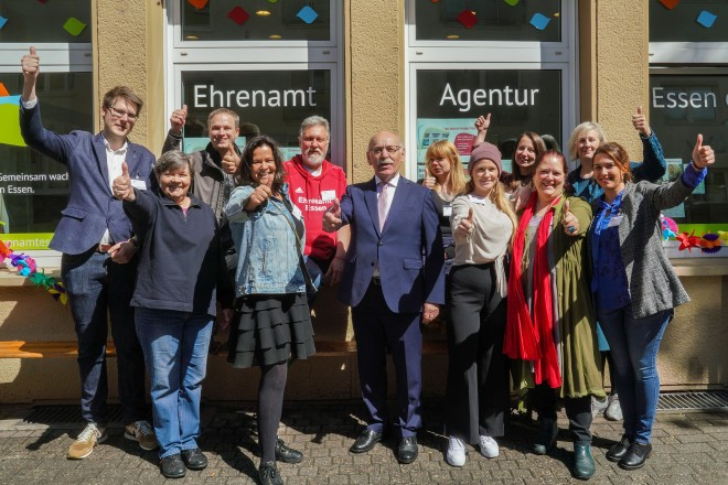 Bürgermeister Rudolf Jelinek beim Tag der offenen Tür der Ehrenamt Agentur