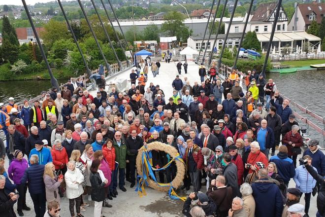 Richtfest Kampmannbrücke