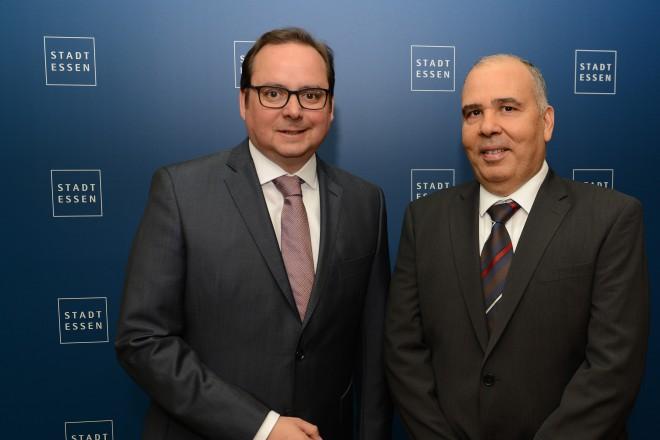 Antrittsbesuch des neuen tunesischen Generalkonsul Hafedh Ben Romdhane bei Oberbürgermeister Thomas Kufen