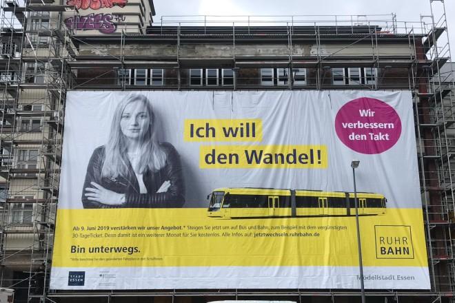 """Die Ruhrbahn startet die große Werbekampagne """"Modellstadt Essen""""."""