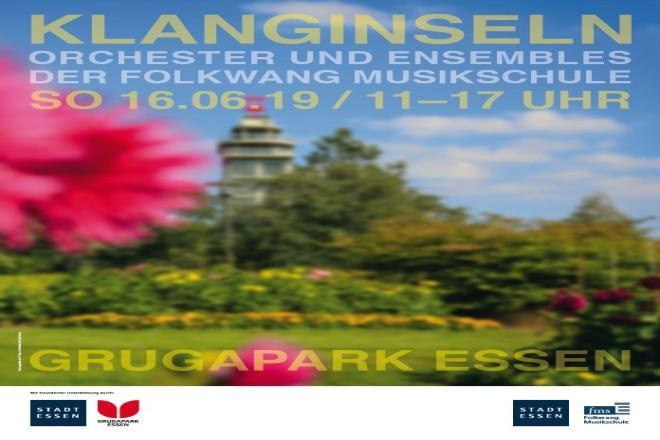 Klanginseln - Die Folkwang Musikschule musiziert am 16. Juni im Grugapark