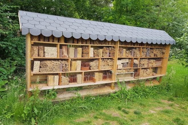 Das neue Insektenhotel im Grugapark.