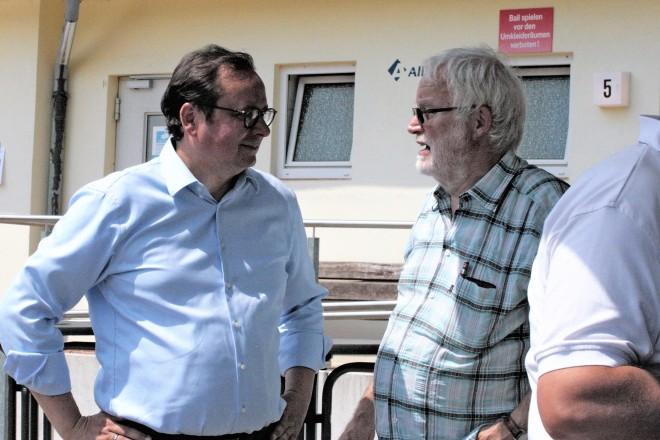 Oberbürgermeister Thomas Kufen besucht das Vereinsfest des DJK Winfried Essen- Huttrop e.V.