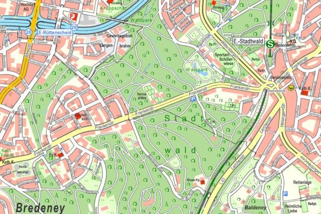 Auf der Frankenstraßen in Bredeney soll im Abschnitt zwischen dem Stadtwaldplatz und der Berenberger Mark ein Fahrradweg entstehen.