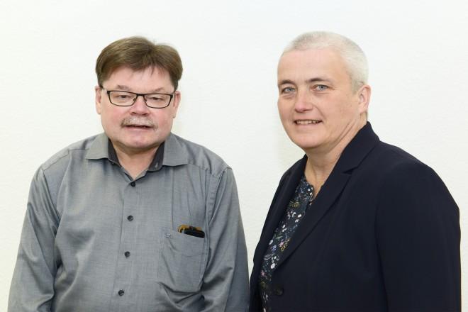 Dr. Rainer Kundt und Juliane Böttcher.