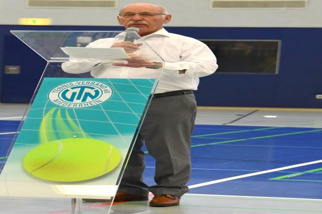 Bürgermeister Rudolf Jelinek eröffnet den DTB Talent Cup 2019
