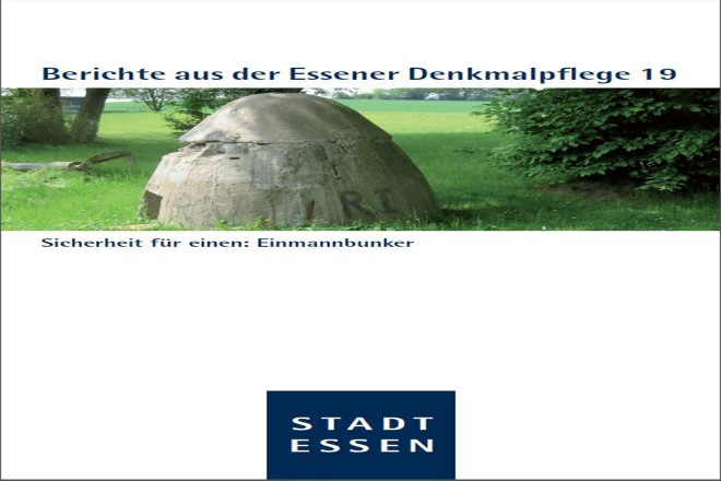 Titelseite des 19. Bandes der Berichte aus der Essener Denkmalpflege.