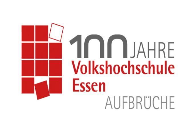 Logo: 100 Jahre Volkshochschule Essen
