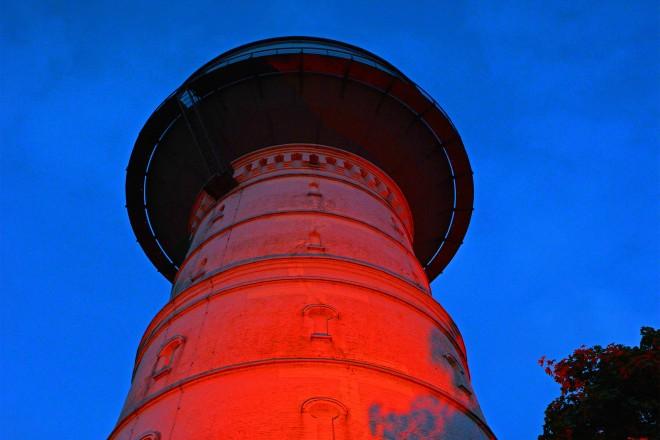 Beleuchtung am Frintroper Wasserturm