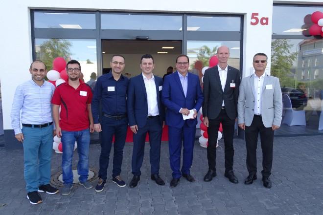 Eröffnung der GTÜ-Prüfstelle mit Oberbürgermeister Thomas Kufen