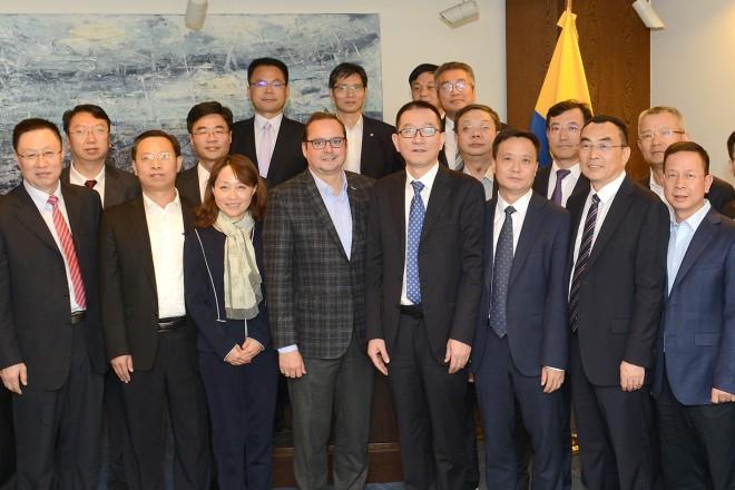 Foto: Oberbürgermeister Thomas Kufen begrüßte eine chinesische Delegation