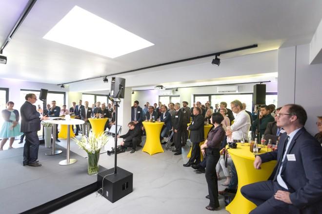Foto: Eröffnung des Luka European Headquarter mit Oberbürgermeister Thomas Kufen