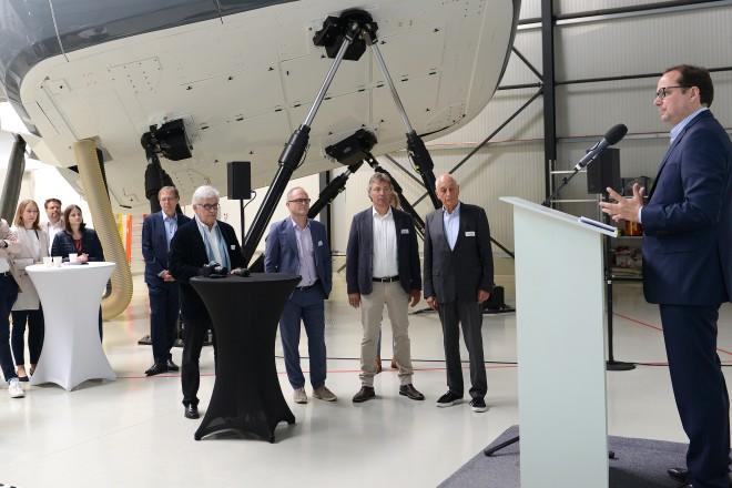 Foto: Oberbürgermeister Thomas Kufen begrüßte die Teilnehmer der Tagung des Innovations-Campus-Kupferdreh