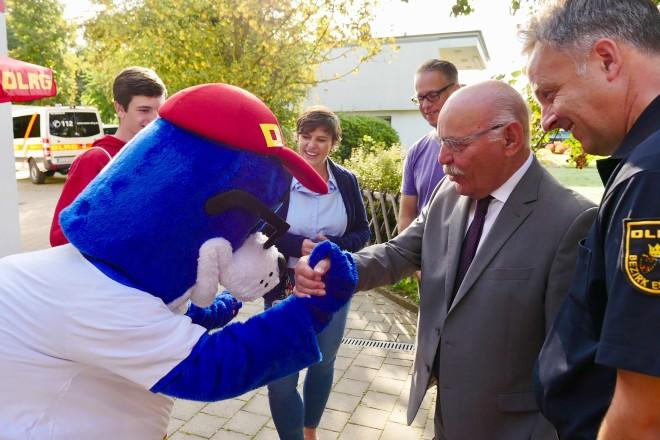 Bürgermeister Rudolf Jelinek besucht den Tag der offenen Tür des DLRG, Bezirk Essen e.V