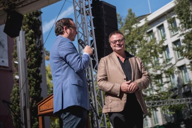 Foto: Oberbürgermeister Thomas Kufen beim Theaterfest von Theater und Philharmonie Essen (TUP)