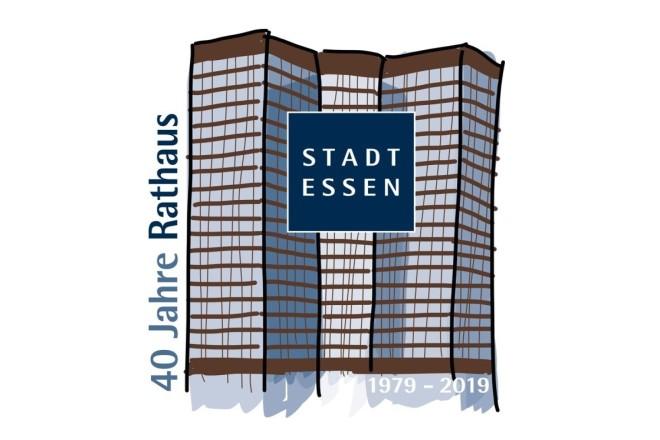 40 Jahre Rathaus Essen.