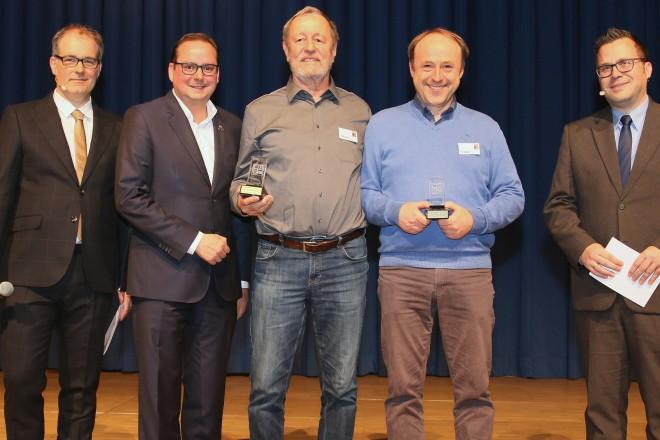 Foto: Oberbürgermeister Thomas Kufen bei der Verleihung des Deutschen Spielepreises in der Messe Essen.