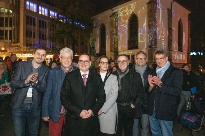 Foto: Eröffnung des Essen Light Festivals