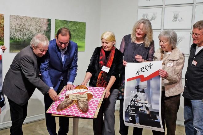 Ausstellungseröffnung anlässlich des 25-jährigen Zollvereinjubiläums der ARKA-Kulturwerkstatt