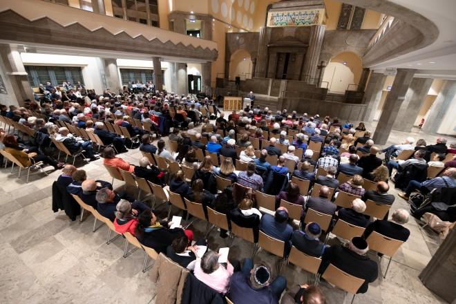Foto: Gedenkveranstaltung anlässlich der Reichspogromnacht in der Alten Synagoge Essen