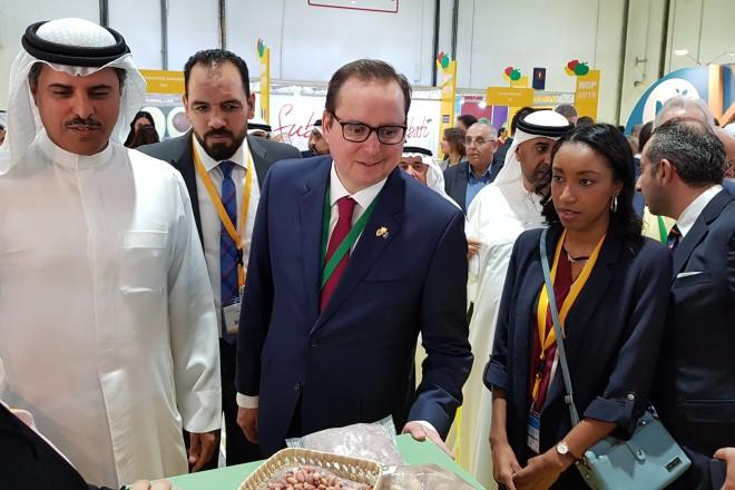 """Oberbürgermeister Thomas Kufen auf Weltleitmesse des Gartenbaus """"IPM Dubai 2019"""""""