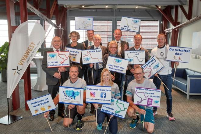 Bei der Pressekonferenz zum VIVAWEST-Marathon 2020 wurden unter anderem die Neuerungen des Laufs präsentiert.