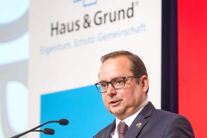 Foto: Oberbürgermeister Thomas Kufen sprach beim Essener Haus & Grund-Kongress 2019 ein Grußwort.