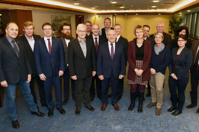 Foto: Bürgermeister Rudolf Jelinek begrüßte den Arbeitskreis der Leiterinnen und Leiter der Rechnungsprüfungsämter der Landeshauptstädte und größten Städte im Deutschen Städtetag