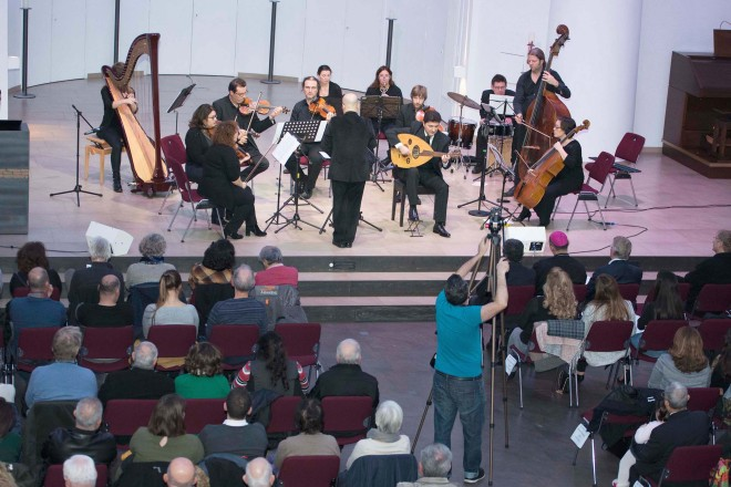 Musikprojekt Strings of Soul in der Kreuzeskirche in Essen.