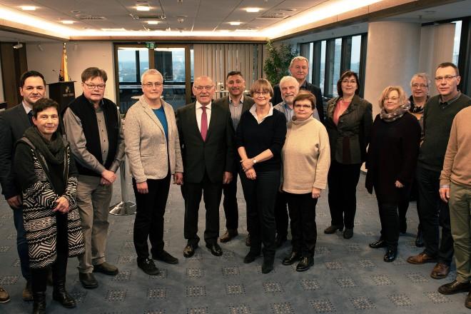 Bürgermeister Rudolf Jelinek begrüßt die Leiter der bundesdeutschen Gesundheitsämter des Deutschen Städtetages