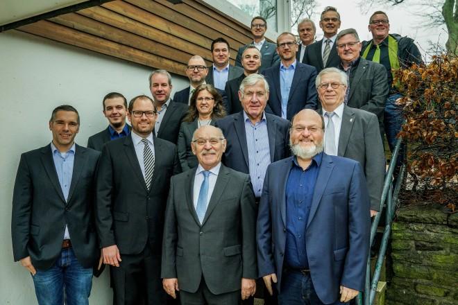 Bürgermeister Rudolf Jelinek besucht den Neujahrsempfang des ETB Schwarz-Weiss-Essen