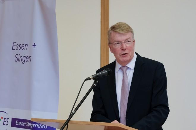 Bürgermeister Franz-Josef Britz beim Neujahrsempfang des Essener Sängerkreises.