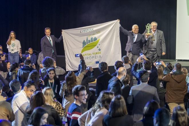 Die Stadt Lissabon feierte die Eröffnung der Grünen Hauptstadt im Pavilhão Carlos Lopes.