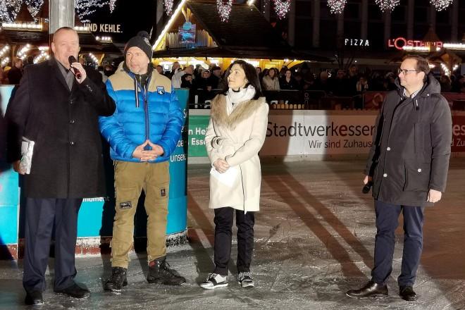 Eröffnungsfeier ESSEN ON ICE auf dem Kennedyplatz
