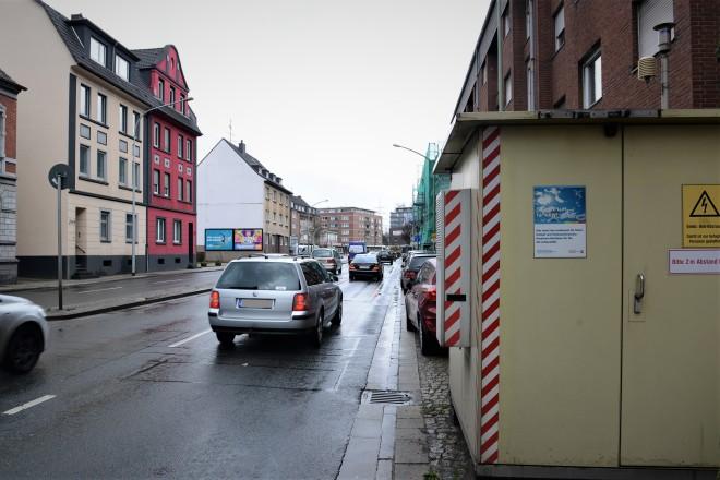 Vorläufige Daten der kontinuierlichen Messungen zeigen, wie hier auf der Gladbecker Straße, dass sich die Luftqualität verbessert hat.