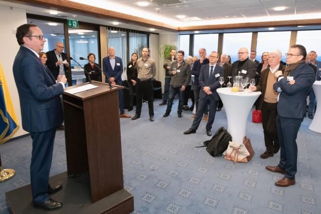 """Oberbürgermeister Thomas Kufen begrüßte das Partnernetzwerk """"Grüne Hauptstadt Europas"""" zum zweiten Treffen. Foto: Moritz Leick, Stadt Essen"""