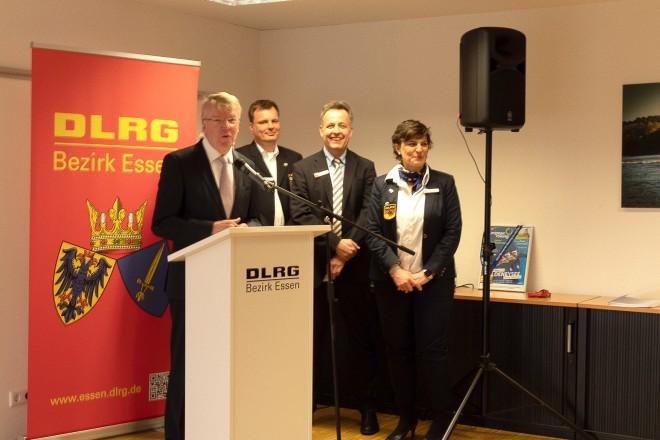 Bürgermeister Franz-Josef Britz beim Neujahrsempfang des Deutsche Lebens-Rettungs-Gesellschaft Bezirk Essen e.V.