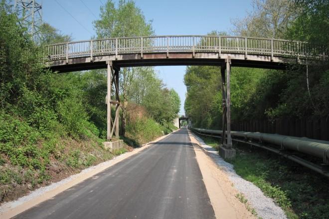 Die Brücke über den Nordsternweg musste saniert werden.