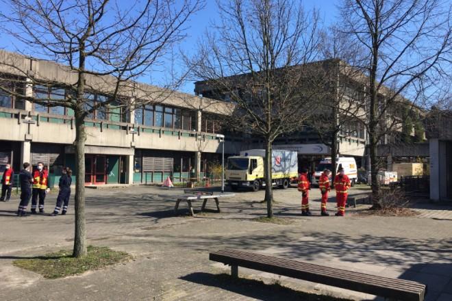 Die Gustav-Heinemann-Gesamtschule diente während der Evakuierung als Betreuungsstelle.