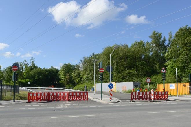 Foto: abgesperrte A40-Anschlussstelle Frillendorf-Nord