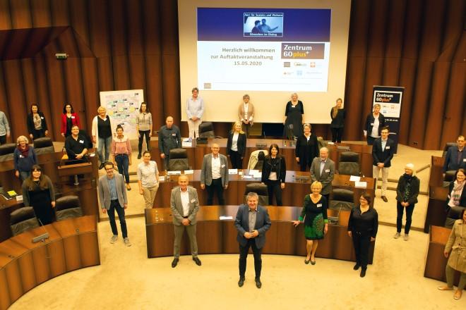 Workshop der Mitarbeiterinnen und Mitarbeiter der Zentren 60plus im Essener Rathaus. Foto: Elke Brochhagen, Stadt Essen