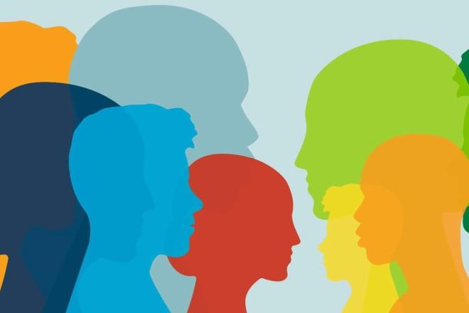 Grafik: Zusammenleben in Vielfalt
