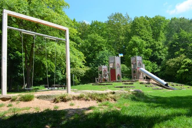 Der Spielplatz im Hallopark in Stoppenberg.